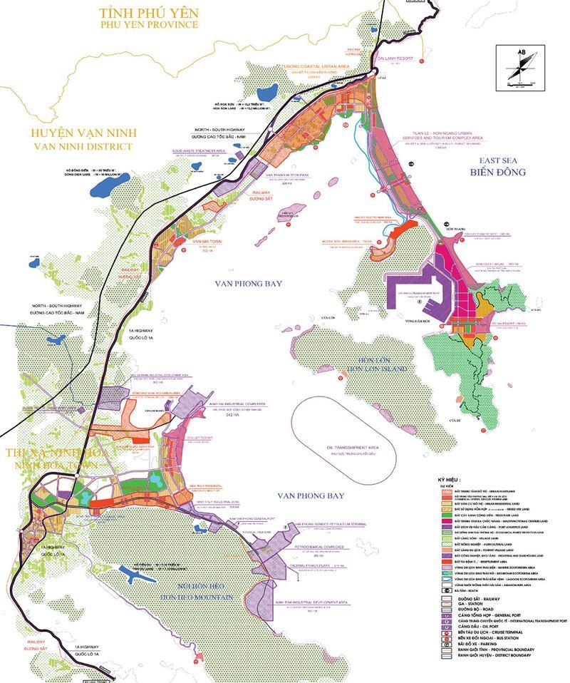 Bản đồ vịnh Vân Phong, bản đồ quy hoạch vịnh Vân Phong