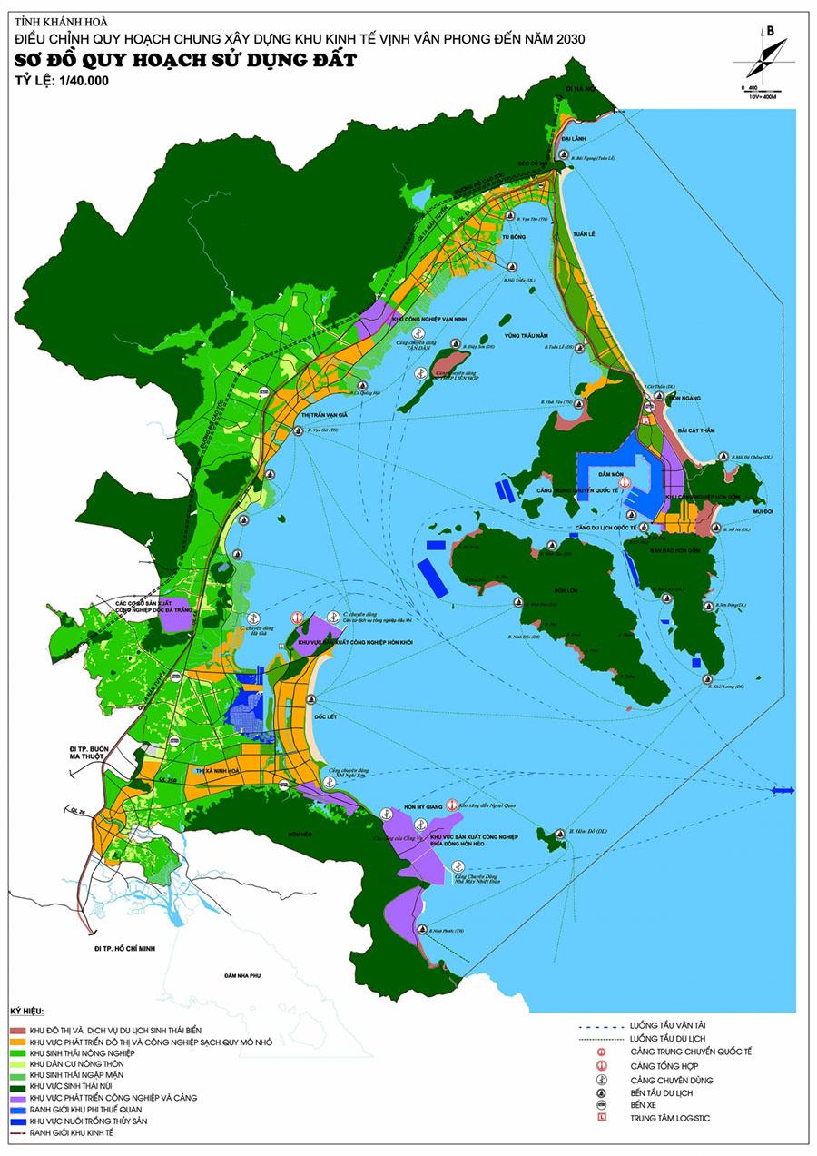Điều chỉnh quy hoạch khu kinh tế vịnh Vân Phong 2019 – Ranh giới và Định hướng phát triển đến 2030