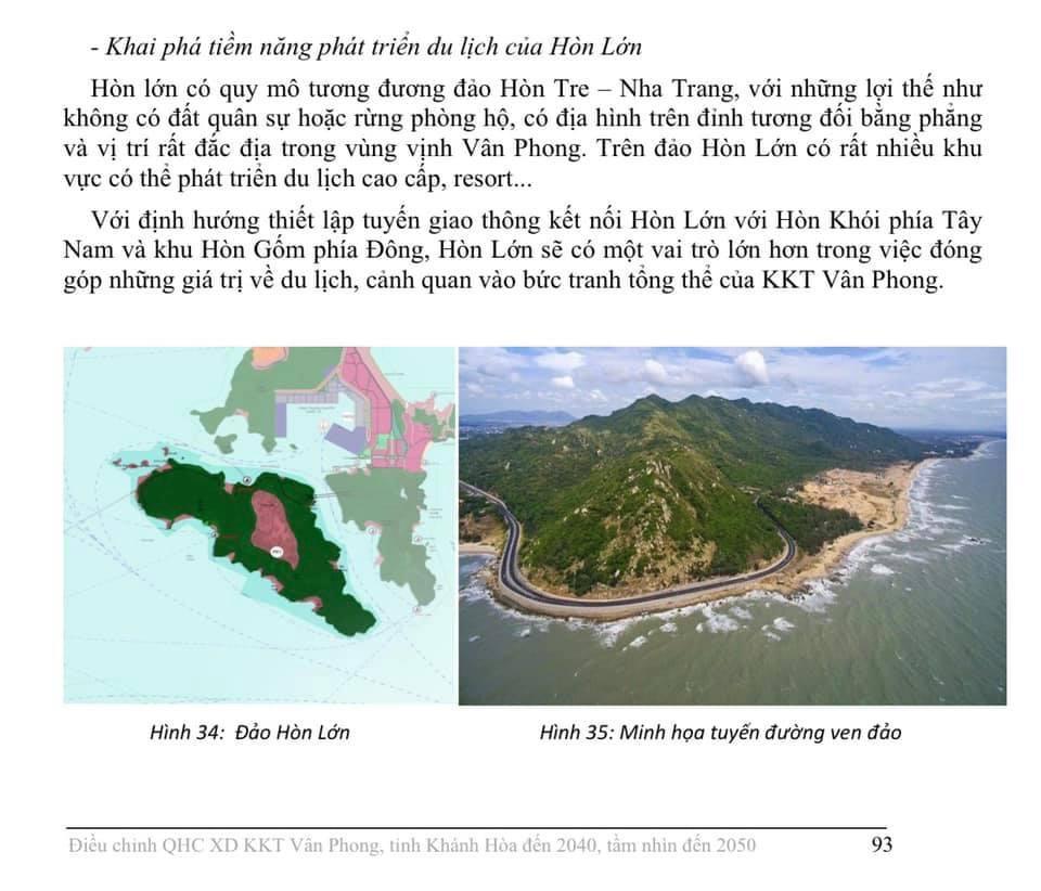 Quy hoạch Bắc Vân Phong Hòn Lớn 2050