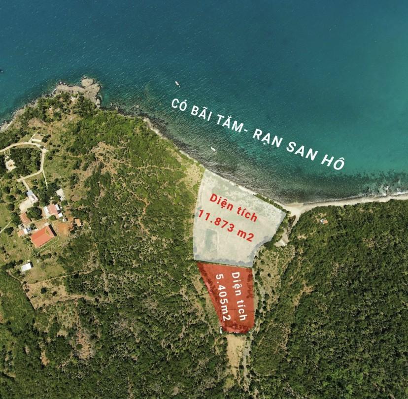 Mặt biển Ninh Đảo bãi tắm san hô